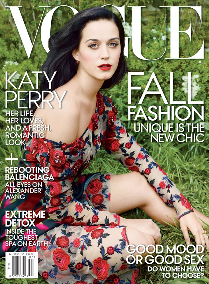 katy perry vogue cover Katy Perry Lands First Vogue US Cover for July 2013 Issue