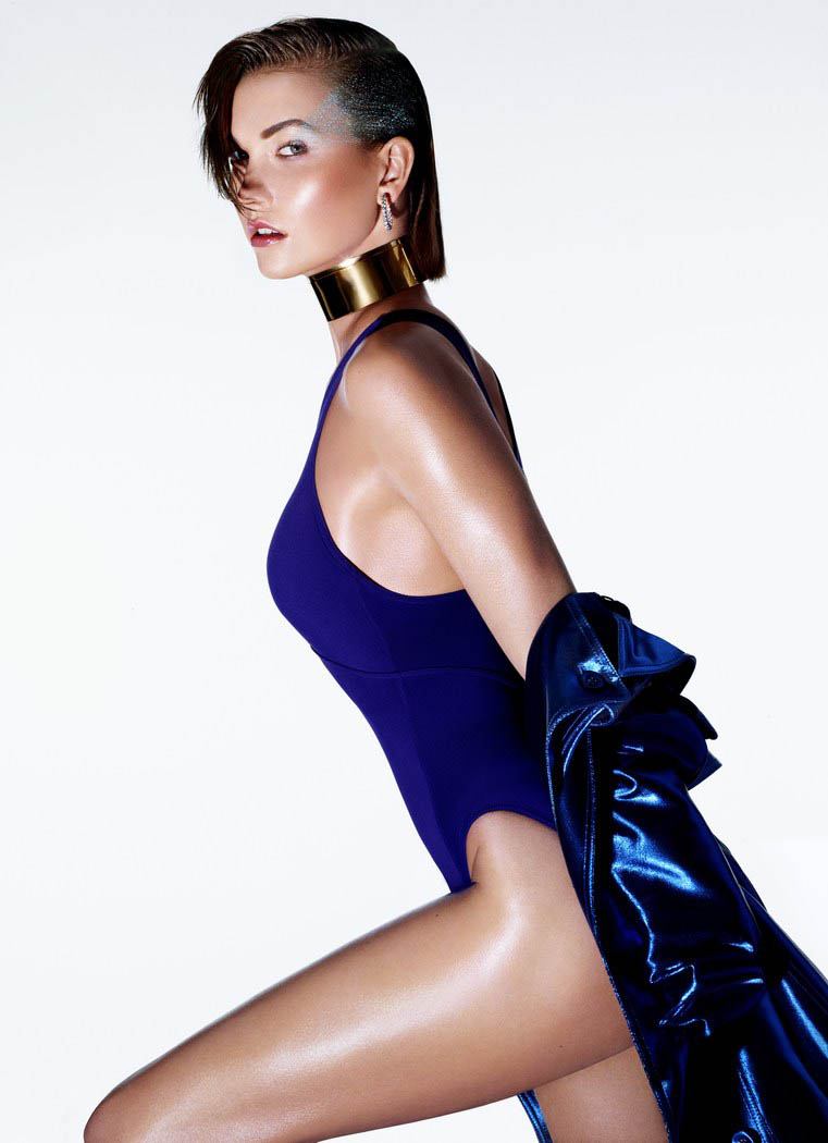 kloss beauty sunday times4 Karlie Kloss Models Summer Beauty for The Sunday Times Style