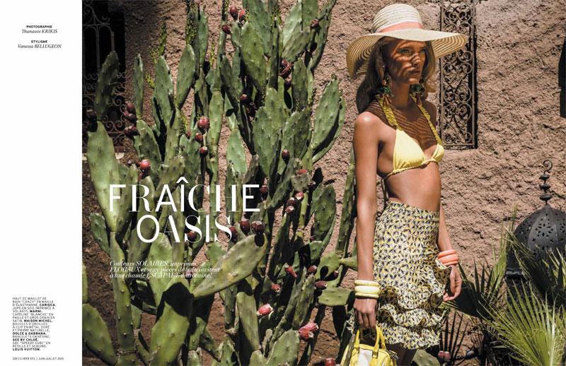 Ilse de Boer Has a Summer Getaway for L'Officiel Paris by Thanassis Krikis