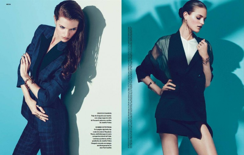 magdalena s moda4 800x509 Magdalena Langrova Models Sleek Style for S Moda June 2013