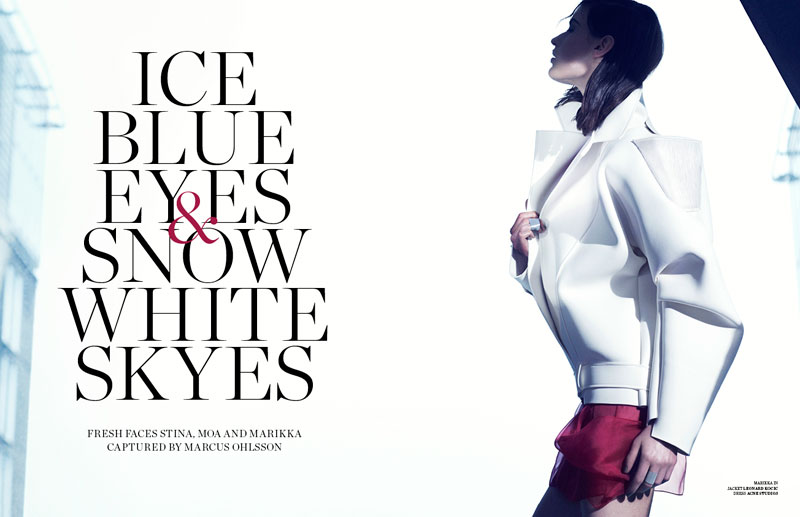 marcus ohlsson1 Marcus Ohlsson Shoots Icy Style for Scandinavia S/S/A/W 2013