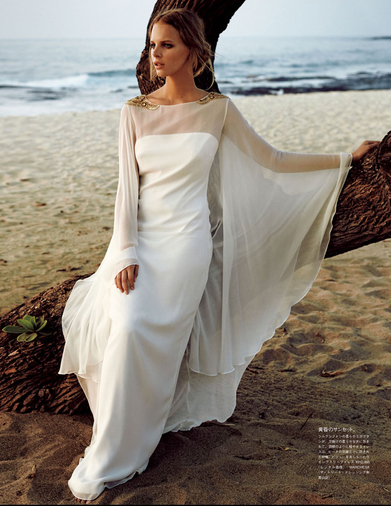 marloes horst bridal shoot12 Marloes Horst Plays a Blushing Bride for Vogue Japan Wedding Special