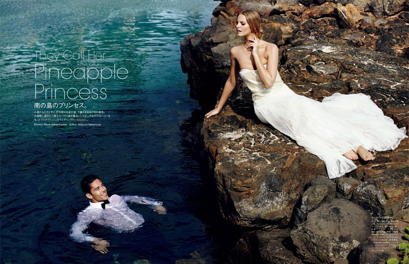 marloes horst bridal shoot3 Marloes Horst Plays a Blushing Bride for Vogue Japan Wedding Special