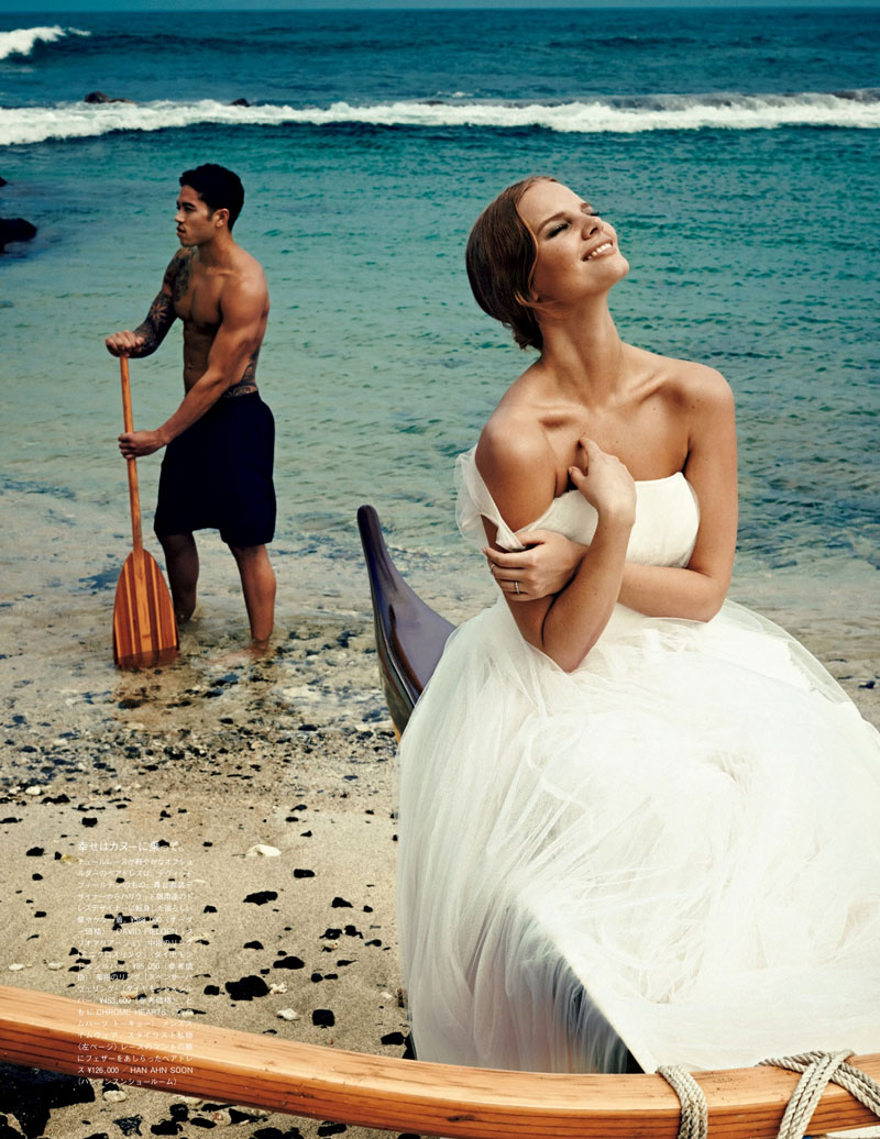marloes horst bridal shoot8 Marloes Horst Plays a Blushing Bride for Vogue Japan Wedding Special
