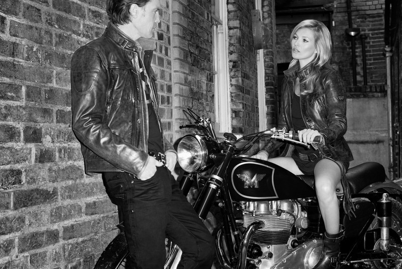 Kate Moss is Biker Cool for Matchless Fall 2013 Campaign by Terry Richardson