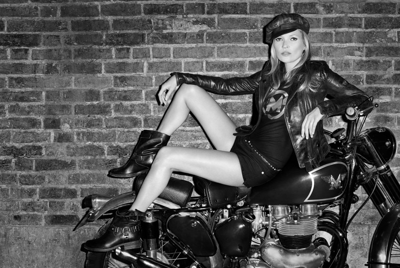 matchless kate moss6 Kate Moss is Biker Cool for Matchless Fall 2013 Campaign by Terry Richardson