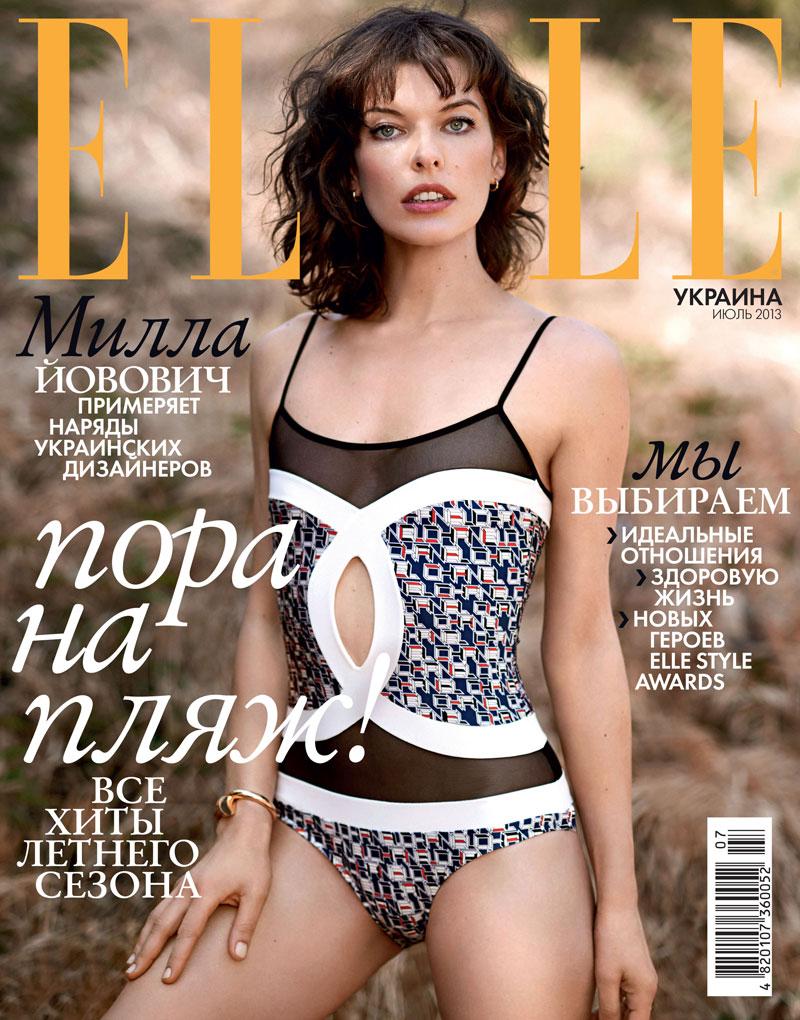 Milla Jovovich Covers Elle Ukraine July 2013 in Chanel