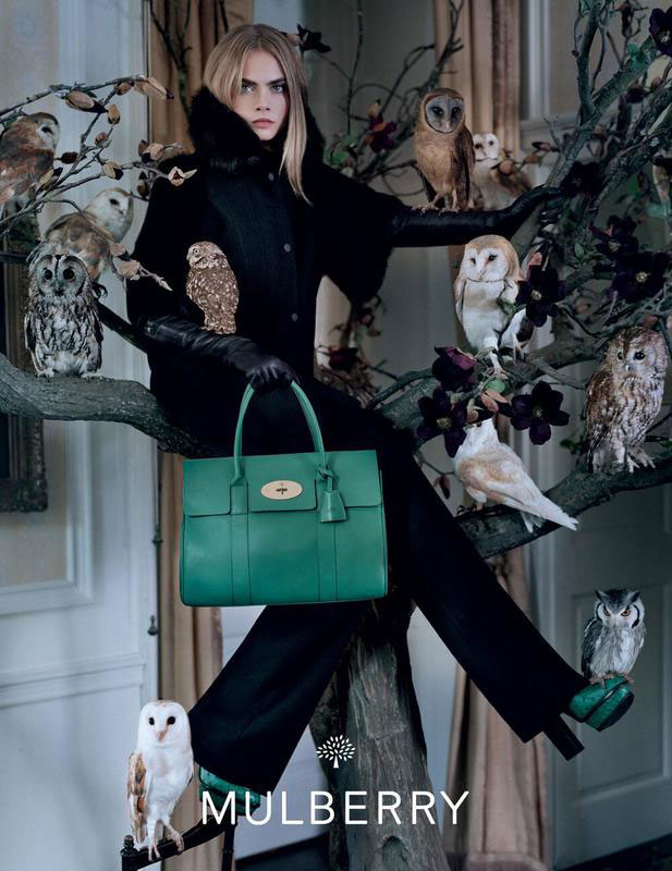 mulberry cara full Cara Delevingne Fronts Mulberry Fall 2013 Campaign