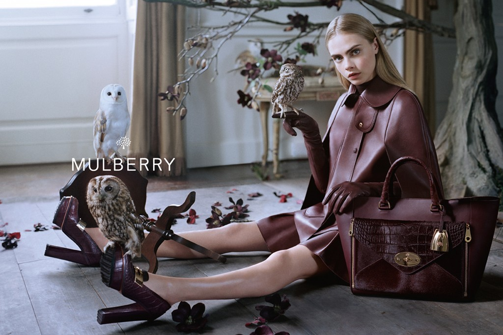 mulberry fall2 See More Mulberry Fall 2013 Ads Starring Cara Delevingne