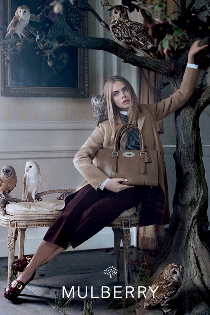 mulberry fall3 See More Mulberry Fall 2013 Ads Starring Cara Delevingne