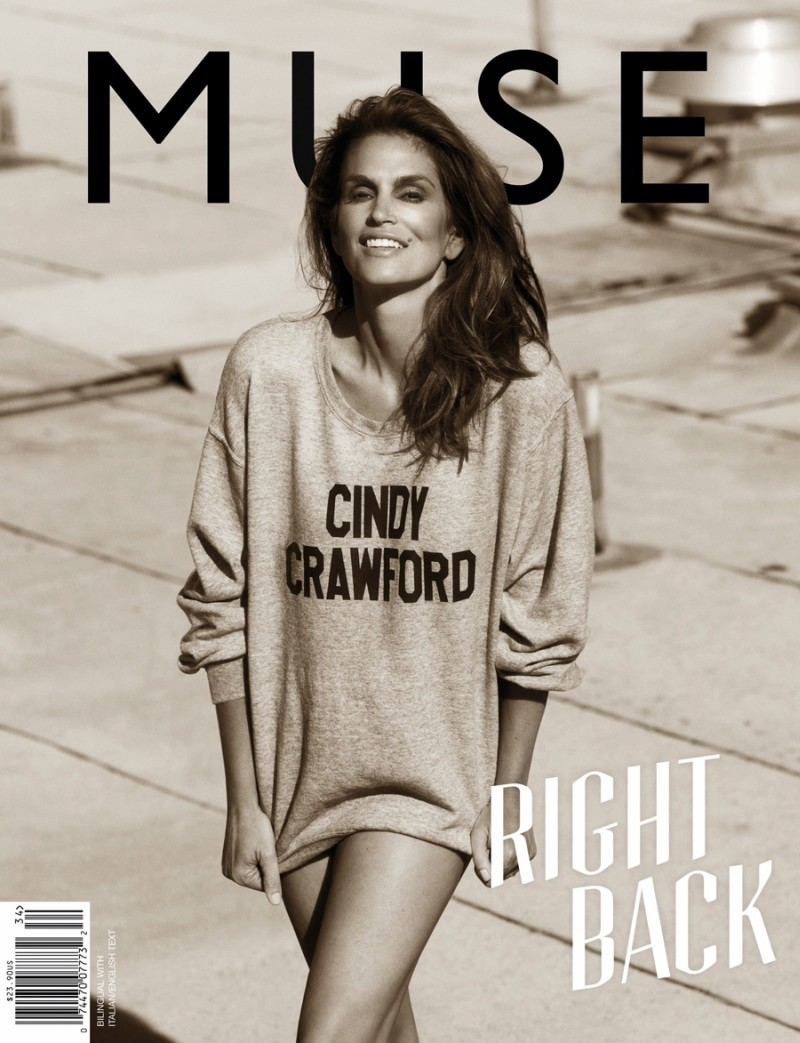 muse cindy crawford1 Cindy Crawford Poses for Mariano Vivanco in Muse Summer 2013