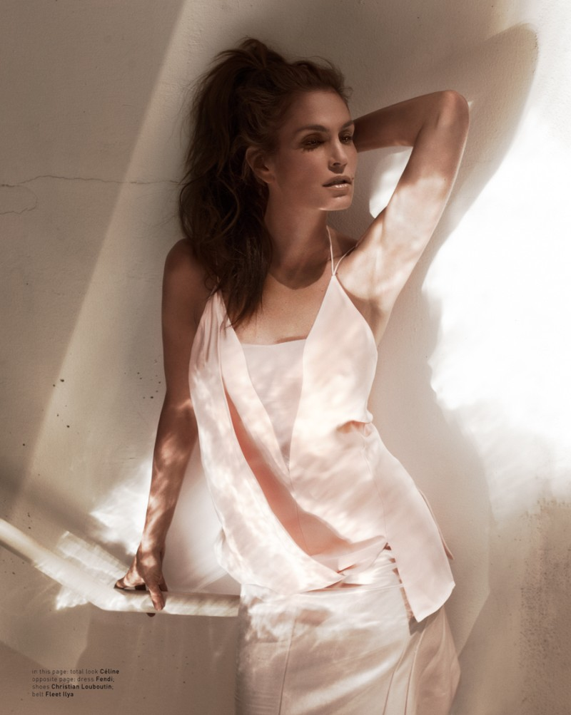 muse cindy crawford3 Cindy Crawford Poses for Mariano Vivanco in Muse Summer 2013