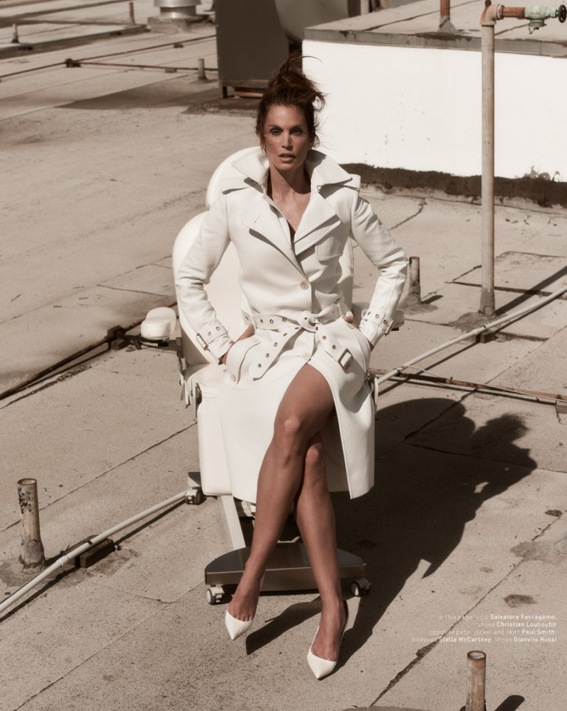 muse cindy crawford9 Cindy Crawford Poses for Mariano Vivanco in Muse Summer 2013