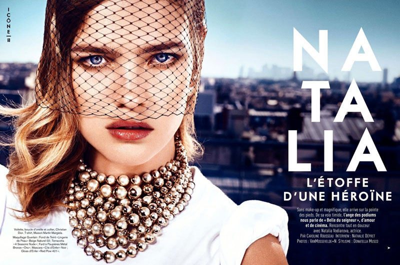 Natalia Vodianova Rocks Red, White and Blue for Glamour France July 2013 Cover Story