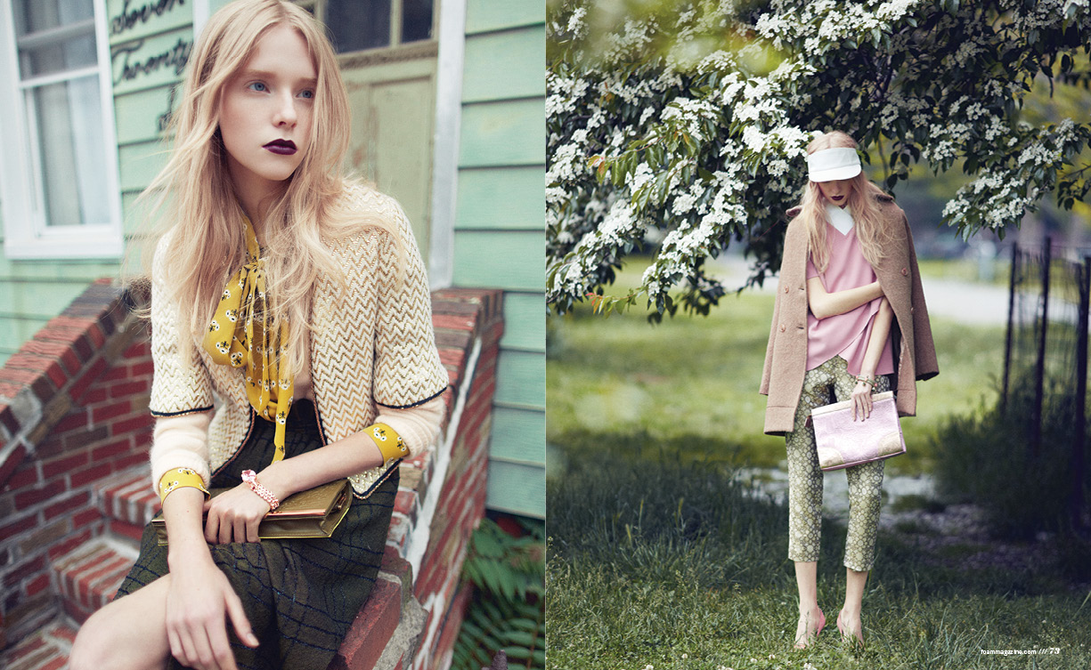 Nastya Zhidkikh Dons Florals for Foam July/August 2013 by Justin Hollar