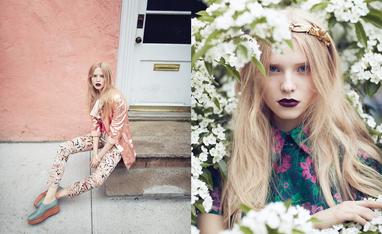 pedal5 Nastya Zhidkikh Dons Florals for Foam July/August 2013 by Justin Hollar