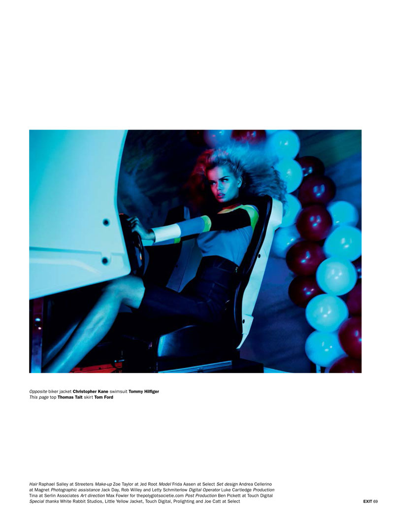 play aitken jolly13 Frida Aasen is an Arcade Star for Exit S/S 2013 by Aitken Jolly