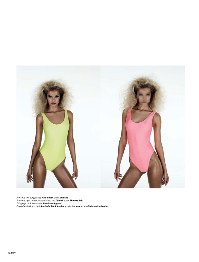 Frida Aasen is an Arcade Star for Exit S/S 2013 by Aitken Jolly