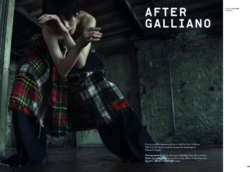 ranya after galliano1 Ranya Mordanova Poses for Nikolay Biryukov in 1Granary Magazine