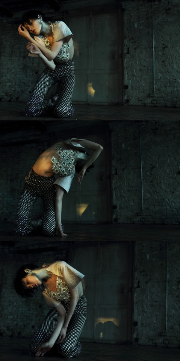 ranya after galliano6 601x1200 Ranya Mordanova Poses for Nikolay Biryukov in 1Granary Magazine