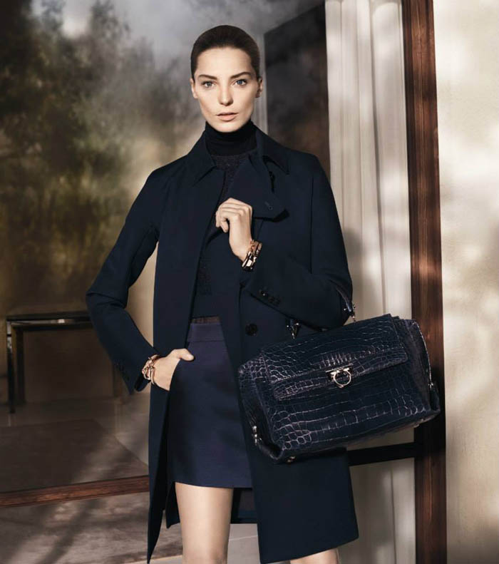salvatore ferragamo fall2 Salvatore Ferragamo Enlists Daria Werbowy for Fall 2013 Campaign