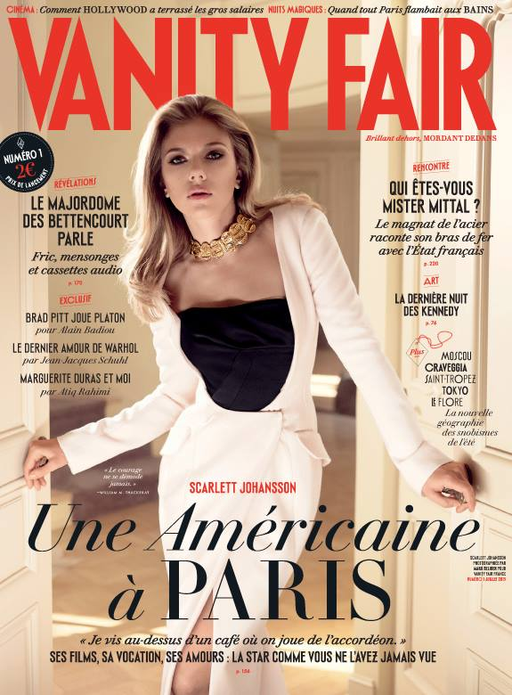 scarlett johansson vf Scarlett Johansson Graces Debut Cover of Vanity Fair France
