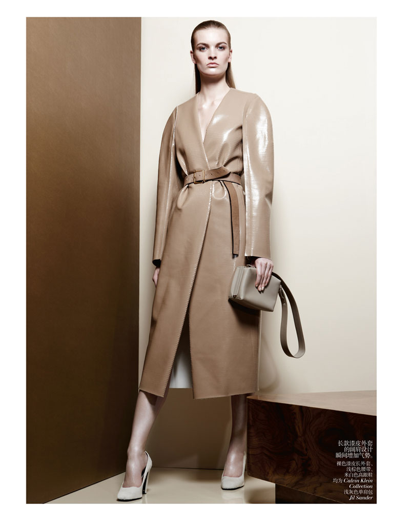 second skin shoot2 Juliane Gruner Sports Sleek Style for Amy Troost in Vogue China July 2013