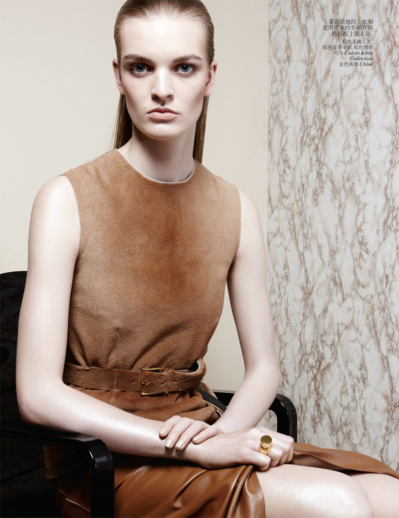 second skin shoot4 Juliane Gruner Sports Sleek Style for Amy Troost in Vogue China July 2013