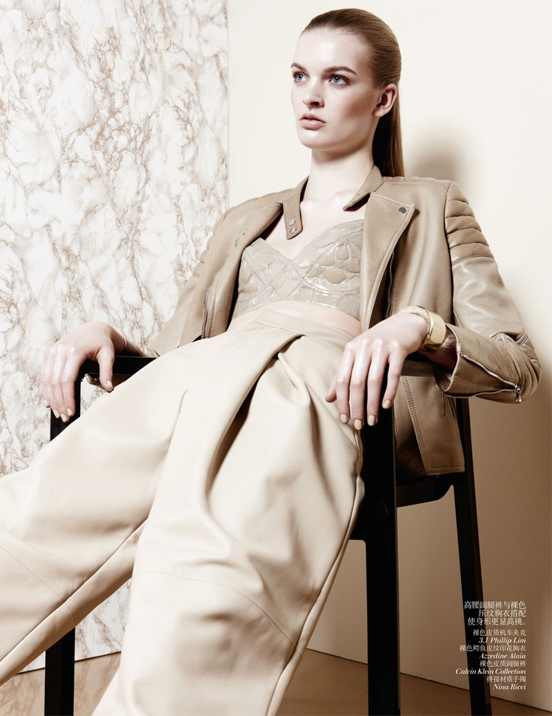 second skin shoot7 Juliane Gruner Sports Sleek Style for Amy Troost in Vogue China July 2013