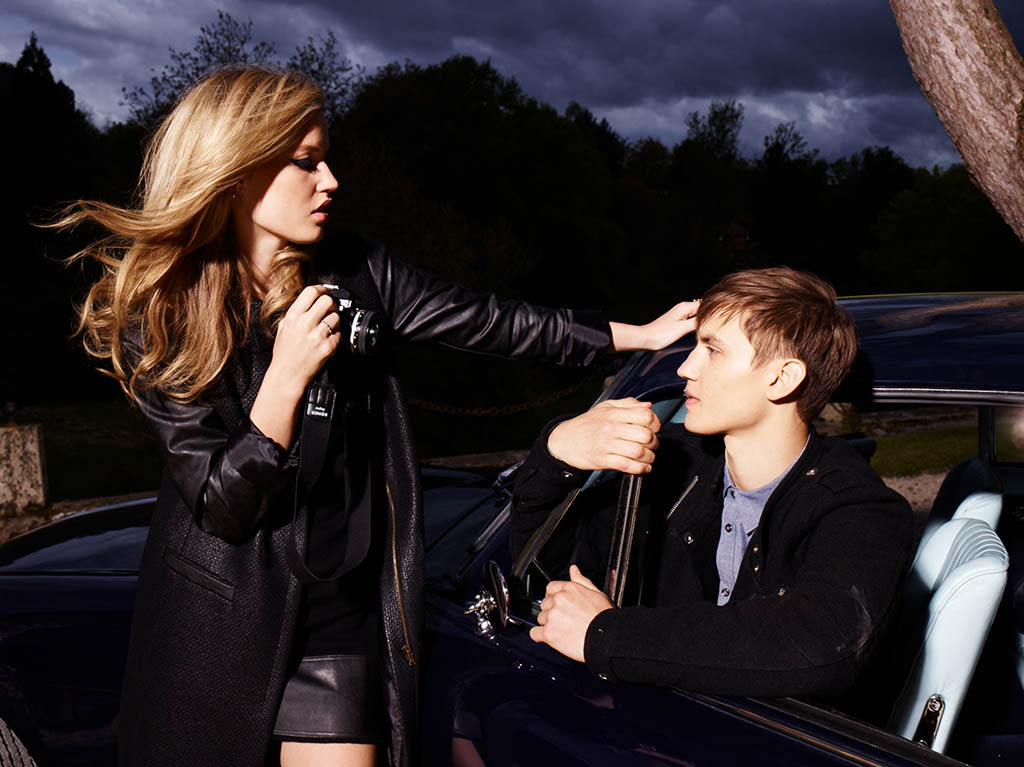 Georgia May Jagger Poses with Boyfriend in Sisley Fall 2013 Campaign