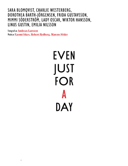 Bon Magazine | Even Just for a Day by Andreas Larsson