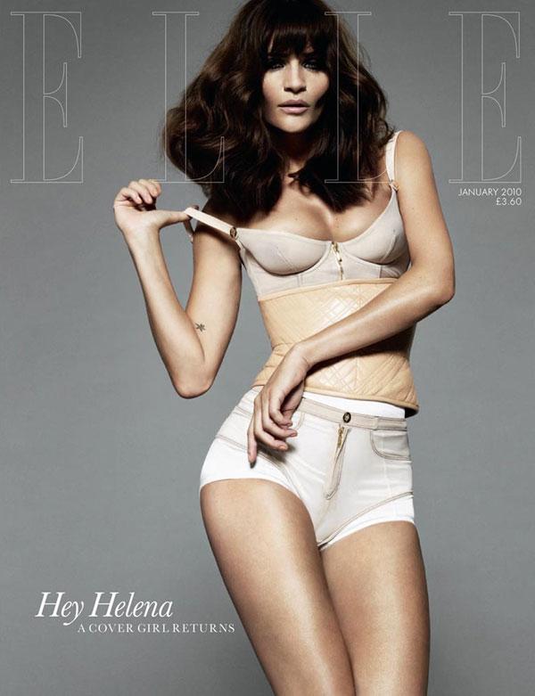 Cover   Helena Christensen by Jan Welters for Elle UK January