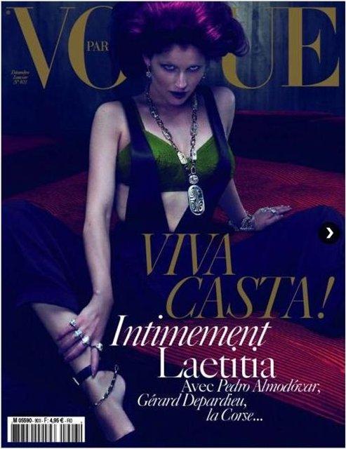 Cover | Laetitia Casta by Mert & Marcus for Vogue Paris Dec/Jan