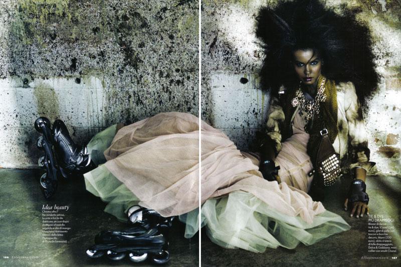 Elle Italia January 2010 | Liya Kebede by Alexei Hay
