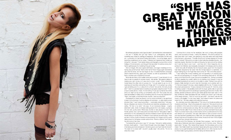 Cover Story   Alice Dellal by Sam Crawford for No. #8