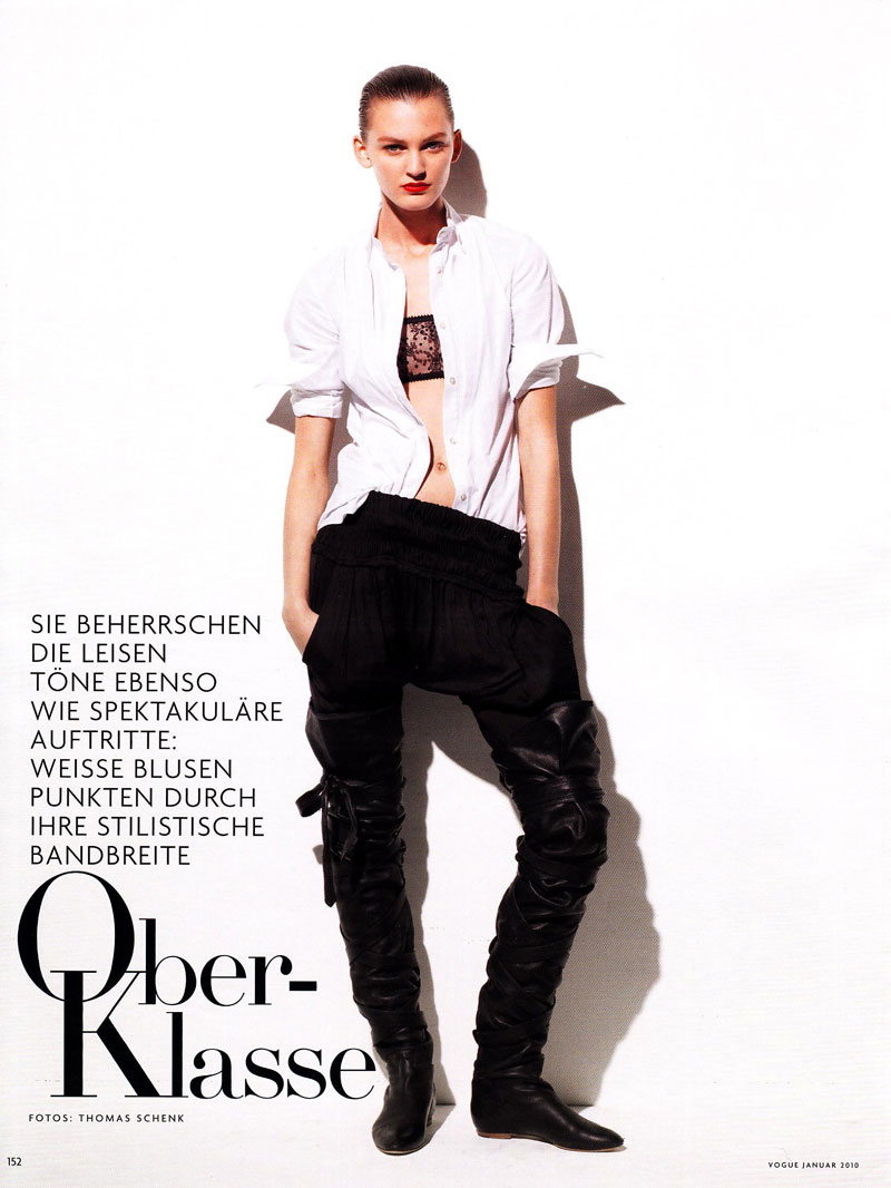 Vogue Germany January | Ali Stephens by Thomas Schenk
