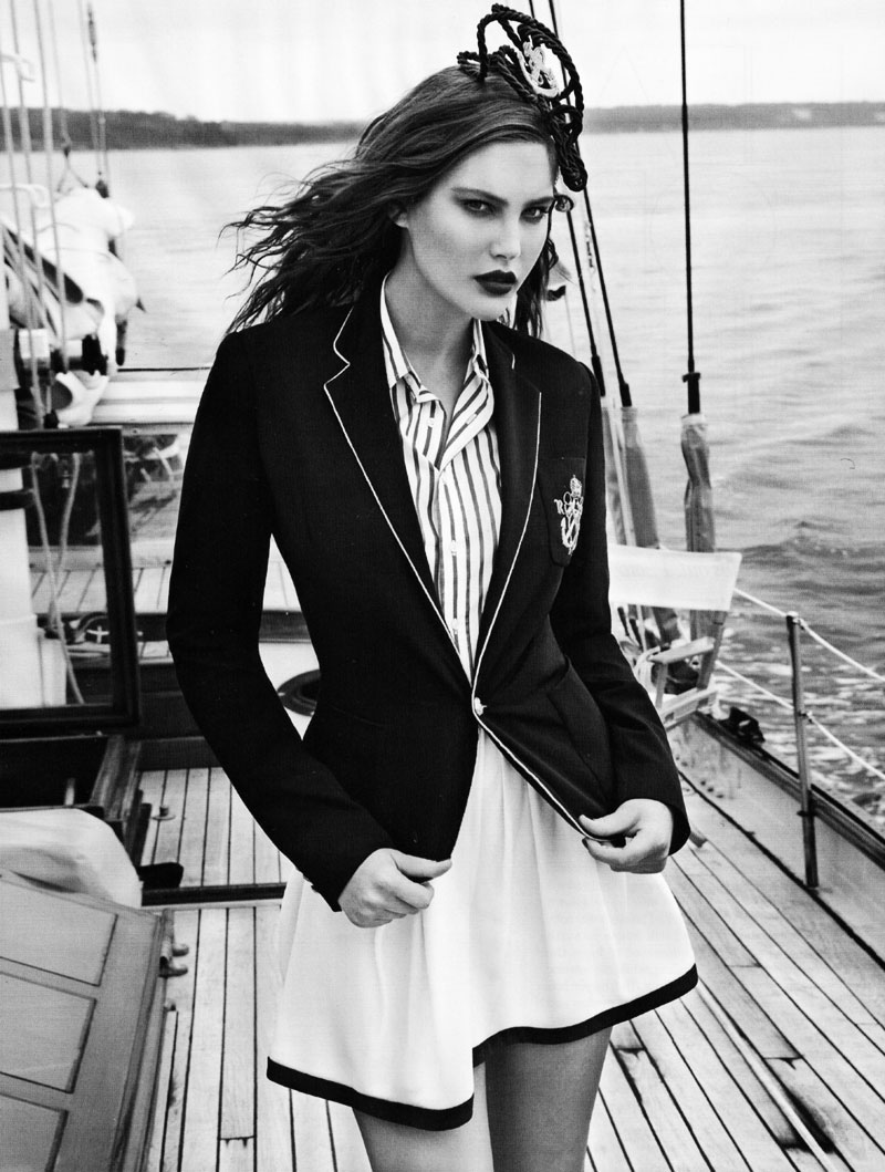 Vogue UK January | Catherine McNeil by Patrick Demarchelier