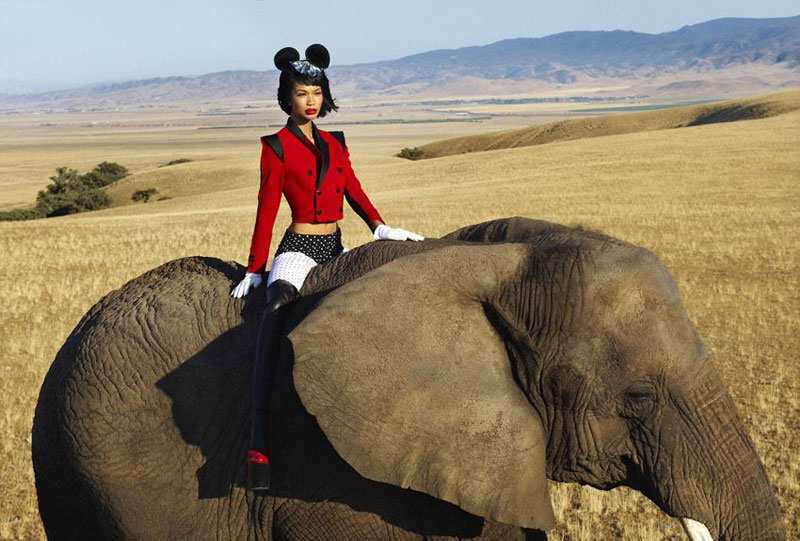 Vogue Germany December | Chanel Iman by Mark Seliger