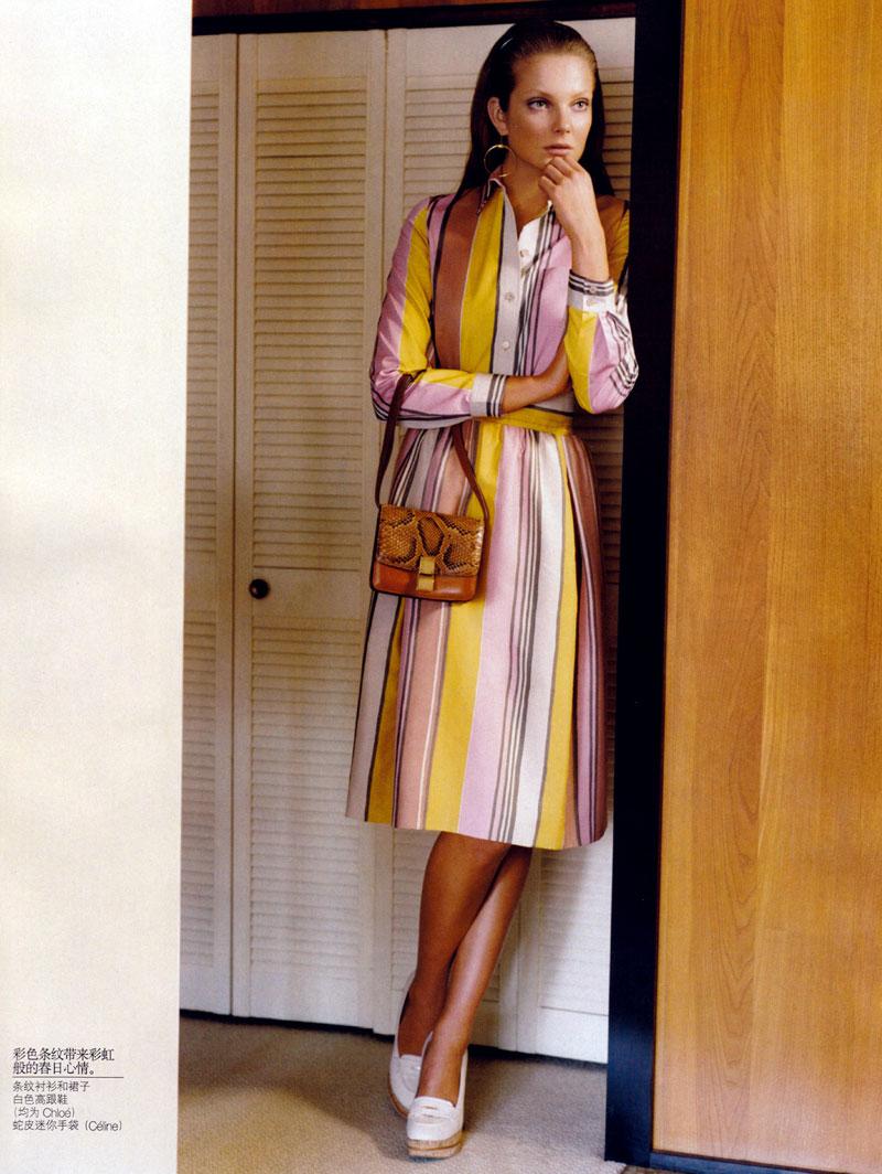 Vogue China January | Eniko Mihalik by Alasdair McLellan