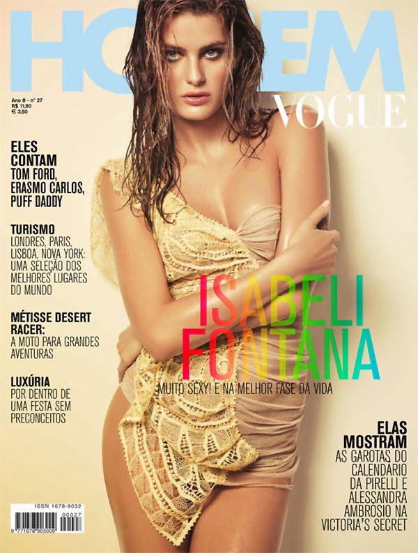 Vogue Homme Brazil December 2009 Cover | Isabeli Fontana by Jacques Dequeker
