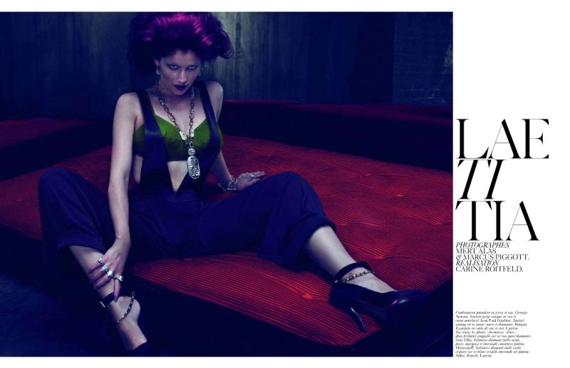 Vogue Paris December 2009   Laetitia Casta by Mert & Marcus
