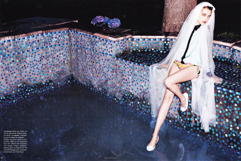 Vogue Germany | Madisyn Ritland by Horst Diekgerdes