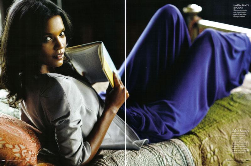 Interno Giorno | Liya Kebede by Matt Jones for Elle Italia