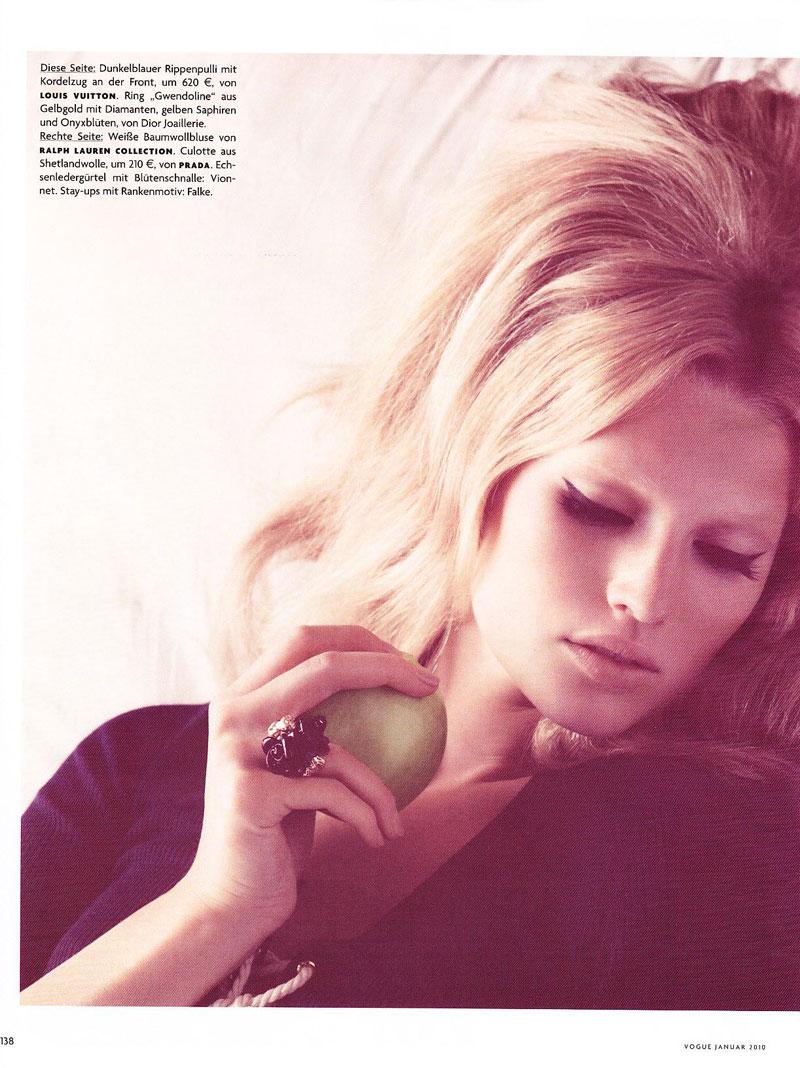 Vogue Germany January | Toni Garrn by Camilla Akrans