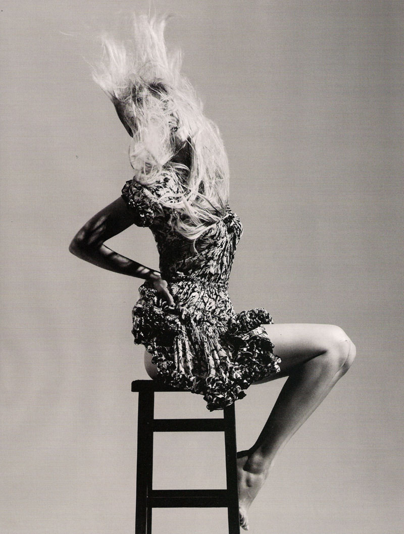 Vogue UK January | Lara Stone by Willy Vanderperre