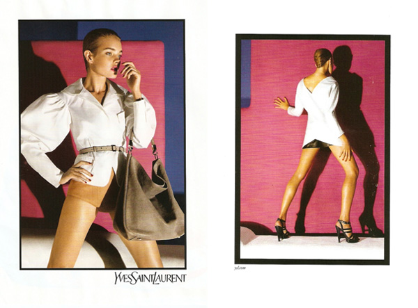 Yves Saint Laurent Spring 2010 Campaign Preview   Natalia Vodianova by Inez & Vinoodh