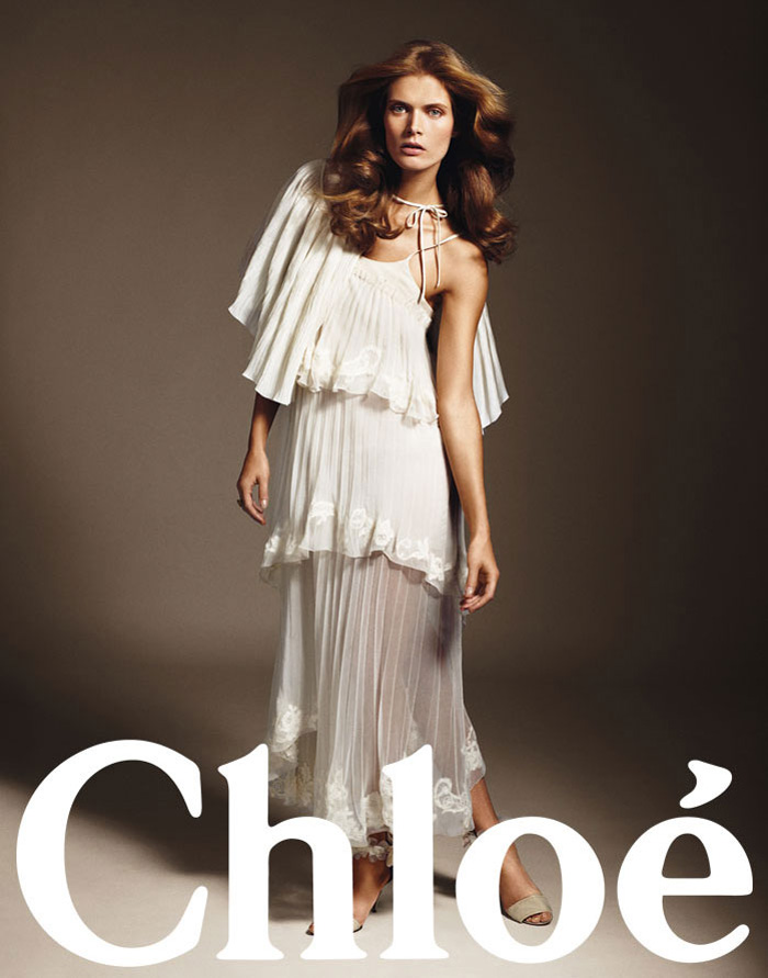 Chloé Spring 2010 Campaign | Raquel Zimmermann & Malgosia Bela by Mario Sorrenti