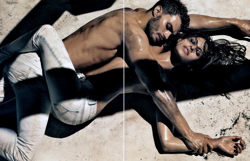 Calvin Klein Jeans Spring 2010 Campaign Preview   Eva Mendes & Jamie Dornan by Steven Klein