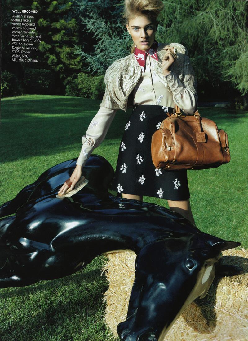 Vogue US Feb 2010   Constance Jablonski by Raymond Meier