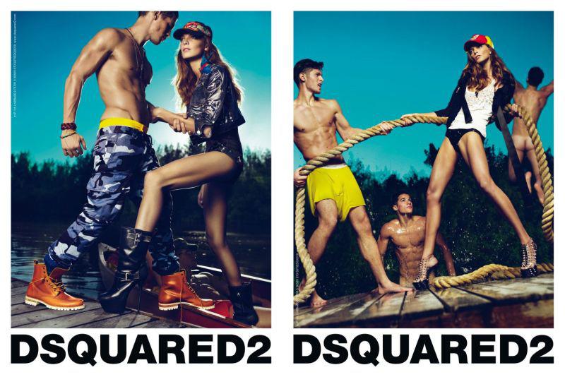 Dsquared² Spring 2010 Campaign | Daria Werbowy by Mert Alas & Marcus Piggott
